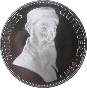 J397-5-DM-Gedenkmuenze-Johannes-Gutenberg-von-1968-G-in-PP-607-SOMMERAKTION