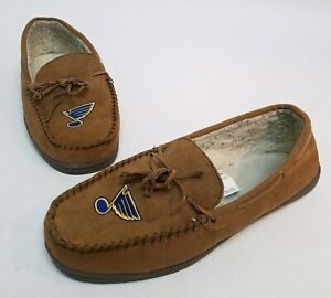Forever Collectibles NHL St Louis Blues Mens Slip On Slippers
