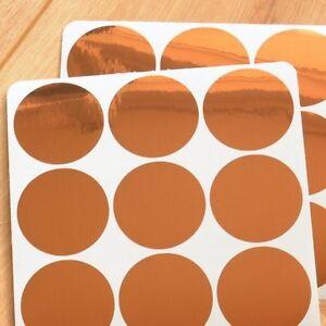Kupfer glanz konfetti wandsticker copper dots punkte - Wandsticker punkte ...