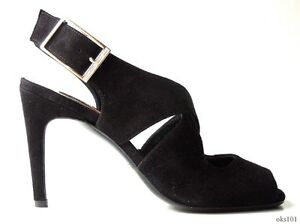 dce2b3bfb2bc new  625 CALVIN KLEIN Collection  Sadie  black suede X-strap shoes ...