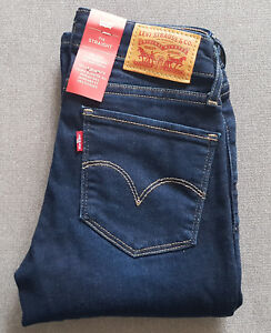 Damen-Maedchen-Jeans-LEVIS-LEVI-S-714-Straight-Lone-Wolf-W23-L30