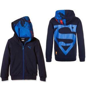 wholesale dealer e387e ed2e9 Dettagli su Puma Divertente Superman Zip Caban Bambini Giacca Felpa  Cappuccio 836753 06 UA97