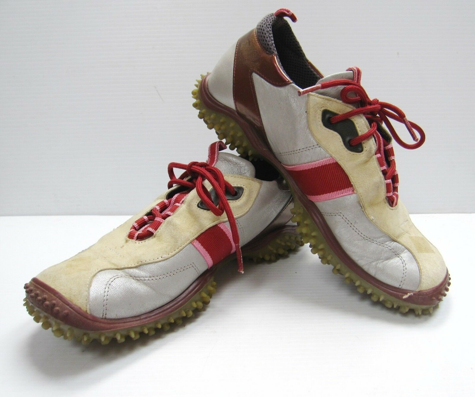 Womens RARE Nordstrom Dimol Italy Leather Tennis Athletic SNEAKERS Shoes 38