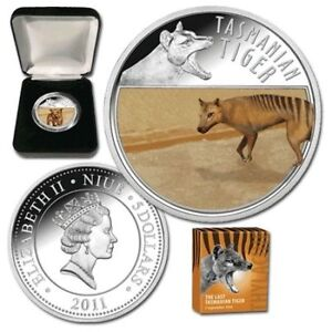 2011-The-Last-Tasmanian-Tiger-Lenticular-Moving-Silver-Proof-Coin-only-3000-mint