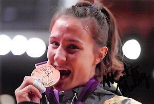 Marti Malloy - USA - Olympia 2012 - Judo - BRONZE - Foto - orig. sig  (2)
