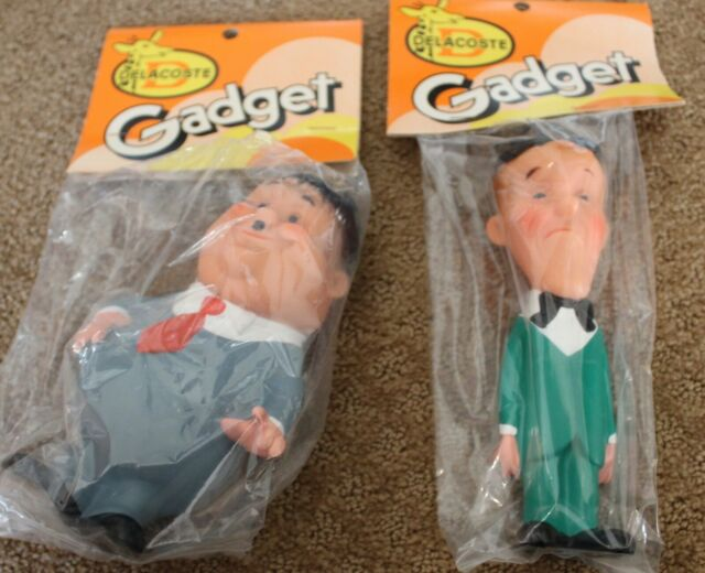 Delacoste Gadget Laurel & Hardy Stan And Ollie Larry Harmon Pictures. rubber toy