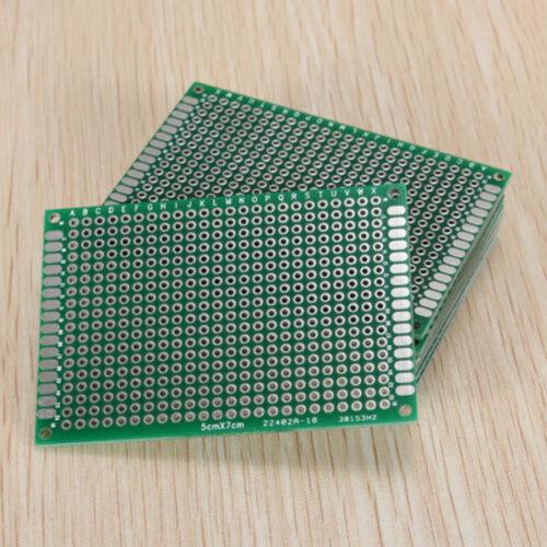 5pcs Double Side Prototyp PCB FR-4 Stripboard Leiterplatte Steckbrett 5x7 AHS