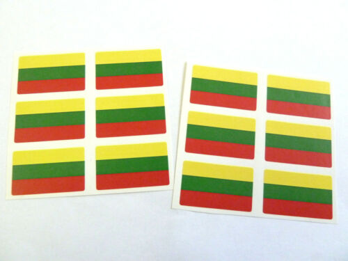 Mini Sticker Pack Self-Adhesive Lithuania Flag Labels FR169