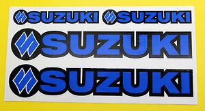 SUZUKI-STILE-MOTO-RM-Z-DR-Z-MOTO-FORCELLA-decalcomanie-adesivi-BLU-Nero