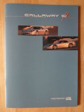 CALLAWAY IVM C12 Coupe orig c1998 prestige brochure - Corvette power