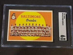 1959-Topps-48-Baltimore-Orioles-SGC-6-Newly-Graded-amp-Labelled-PSA-BVS