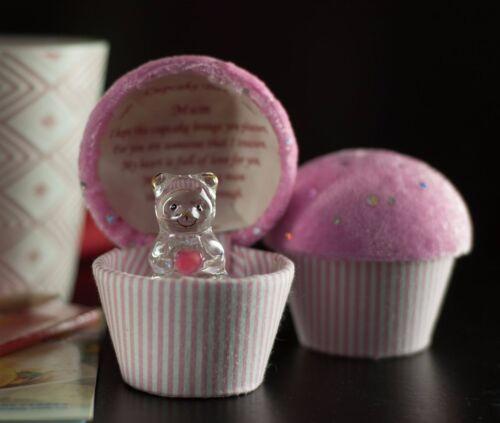 Glass TEDDY BEAR Gift Mothers Mother's Day Mum Mummy Gran Present