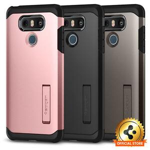 quality design f6085 d7b90 Details about LG G6 Spigen® [Tough Armor] Shockproof Protective Kickstand  TPU Armor Case Cover