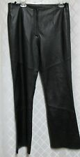 Leather Pants Limited Woman's Black Biker Soft Boot Cut Lined Size 14 Waist 34