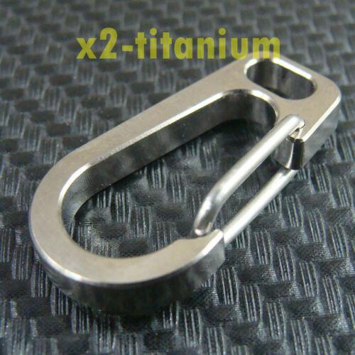 2pcs 30.5mm Titanium Ti snap hook clip Carabine for Key chain use XTi080
