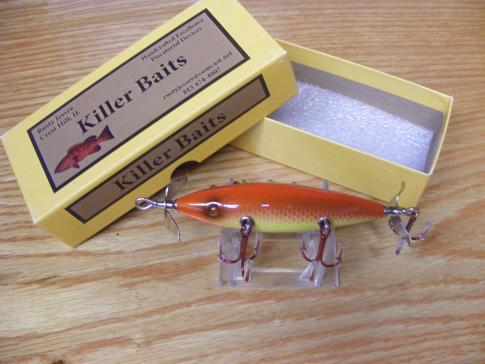 Killer Baits  Rusty Jessee Heddon Little Sac Style Glasseye 150 in Autumn Scale  large discount