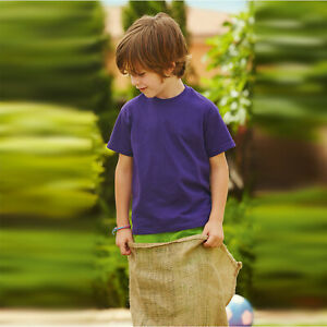 Fruit-of-the-Loom-Kids-Value-T-Shirt-Childrens-Plain-Short-Sleeve-Casual-Tee-Top