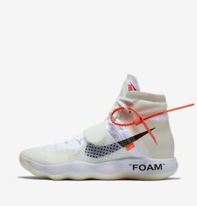 reputable site fd10a 588f6 Details about Off-White x Nike React Hyperdunk Flyknit Virgil Abloh  AJ4578-100 Size 9