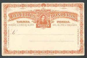 """Ca 1890""""s PC HONDURAS ELABORATE HAMILTON BANK NOTE CO N.Y. MINT"""