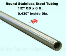 Round Tubing 304 Stainless Steel 12 Od X 6 Ft Welded 0430 Inside Dia