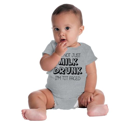 Not Milk Drunk Tit Faced Gerber OnesieFunny Feeding Humor Baby Romper