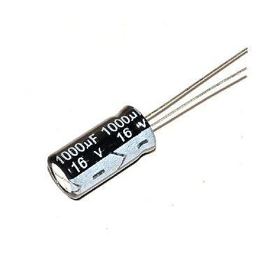 20PCS 1000uF 16V 105C Radial Electrolytic Capacitor