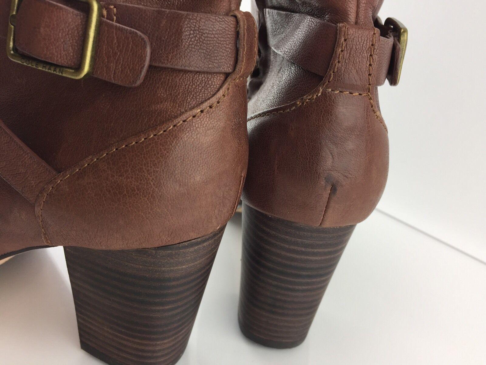 Cole Haan Haan Haan Cassidy Mujer botas al Tobillo Marrón Hebilla 10.5 B 890b94