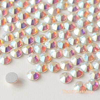 Clear AB (1.3mm-8mm) Crystal Flatback Glass Rhinestone Scrapbook Nail Art Craft