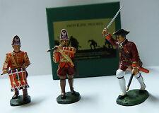 Frontline Figures, French Indian Wars, Offizier, Trommler und Pfeifer,  IHMA5