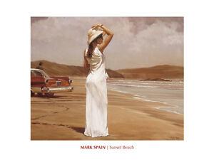 Sunset Beach Mark Spain Online Art Print Wall Poster