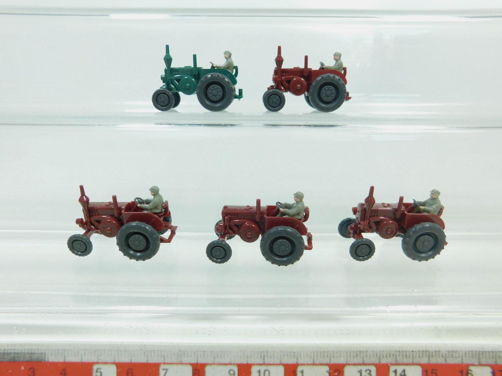 Bk29-0, 5 x Wiking H0   1 87 3080 Bulldog tractor lanz , MINT