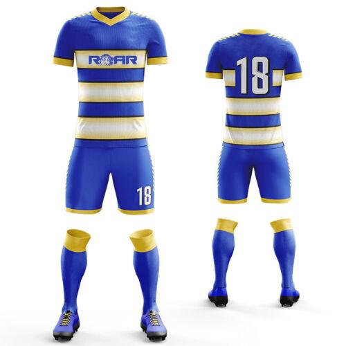 jóvenes equipo del de Nuevo calcetines Roar de camisetas uniforme y hombres personalizadas cortos pantalones fútbol para equipo AHFUwqa