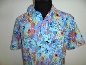 vintage 80s Hawaii Hemd hawaiihemd Baumwolle surf oldschool 80er Jahre Gr.XL