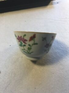 ANTIQUE CHINESE PORCELAIN FAMILLE ROSE BOWL Qing dynasty