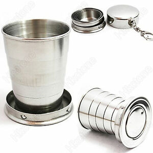 250ML-Portable-Outdoor-Travel-Stainless-Steel-Folding-Collapsible-Cup-Telescopic
