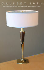 MID CENTURY MODERN LAUREL TABLE LAMP! Eames 50's 60's Vtg Designer Atomic Brass