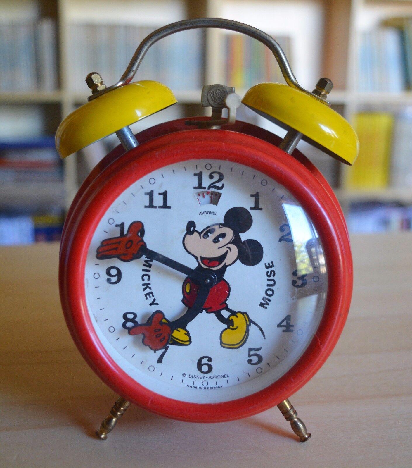 Orologio sveglia Originale Mickey Mouse - anni '60