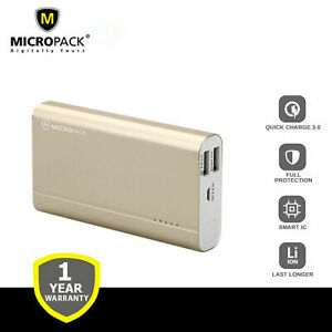 Micropack PB-10000 Q3 Dual USB Quick Charge 3.0 with Smart IC 10,000 mAh
