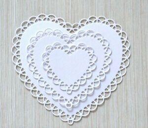 Love Heart Cutting Dies Craft Card Scrapbook Cutter Embossing Stencil Frame Mold