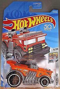 2018-Hot-Wheels-278-HW-Metro-6-10-BACKDRAFTER-Orange-w-Black-OH6-Spokes-Wheel