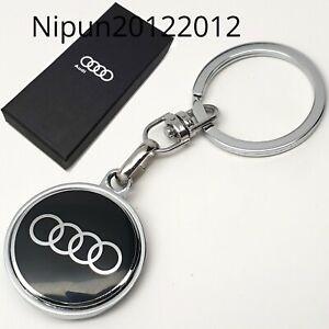 AUDI-Car-Logo-Metal-Keyring-key-chain-Fob-with-Gift-Box