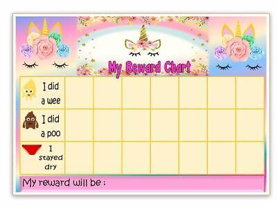 behaviour-chores-goals FREE pen//stickers UNICORN Reward Chart potty
