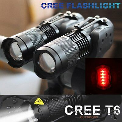 2 x Cree Mini XML-T6 Mountain Bike Torch Lights Head Light 18650 Battery Charger