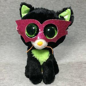 "Rare Retired 6"" JINXY the CAT - TY Beanie Boos w/ Tush Tag HALLOWEEN"