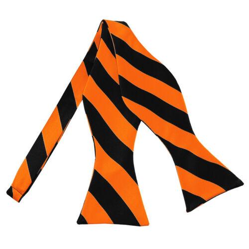 Romario Manzini® Men/'s Self Tie Bow Tie College Stripe 18 Colors