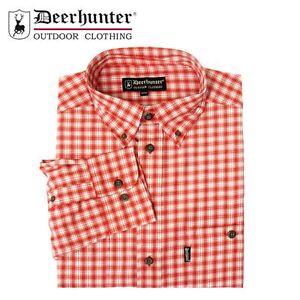 Deerhunter-Milton-Shirt-R2-Red-Pale-Blue-Check-Country-Hunting-Shooting