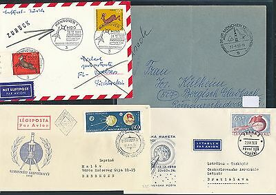 01823 196x Angenehme SüßE Cds / Covers / Fdc 4 Diff Weltraum Space Raketen Years 195x