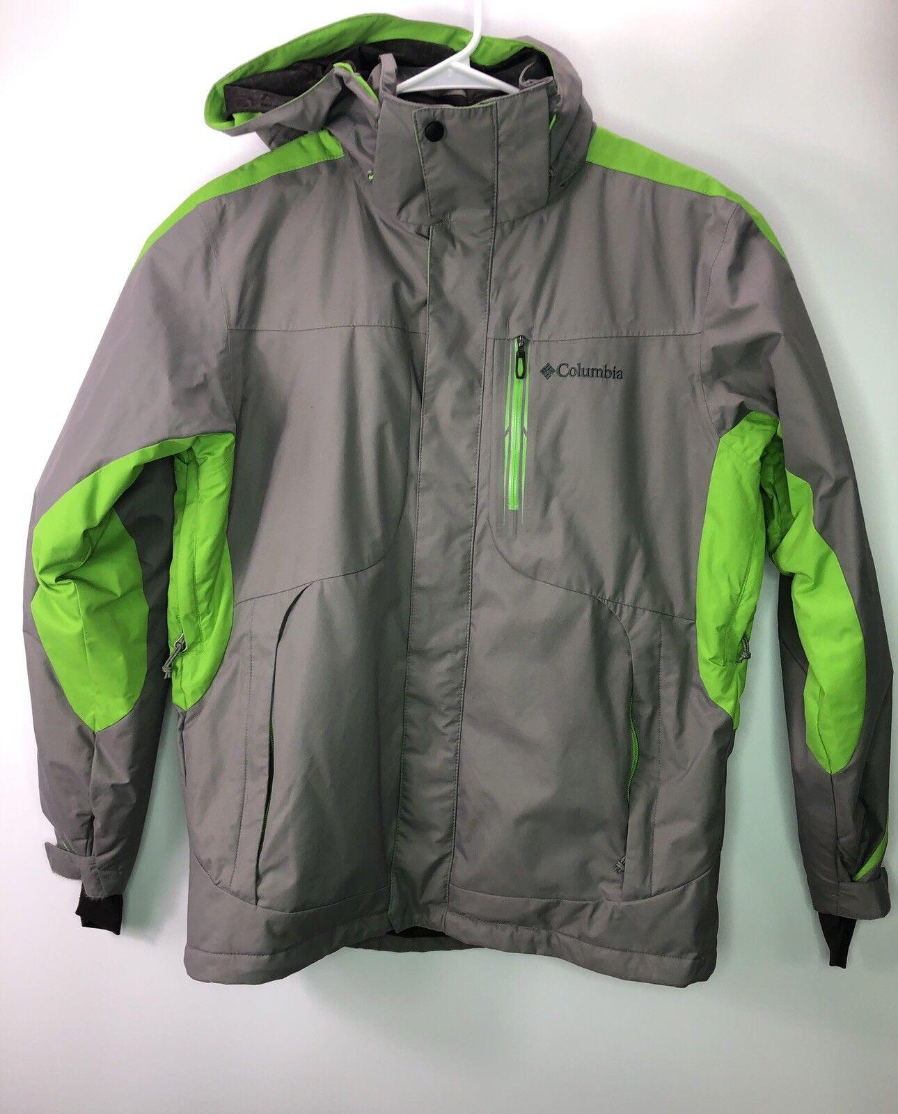 Columbia Omniheat Waterproof Shell herren jacke Hooded  grau Grün M