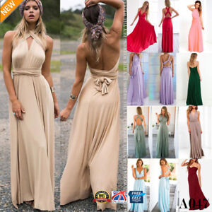 Women-039-s-Long-Maxi-Evening-Bridesmaid-Formal-Multi-Way-Prom-Party-Ball-Gown-A047