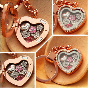 Personalised heart locket keyring gift for mum sister nan Birthday Xmas gifts 6